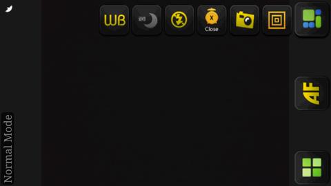 Xperia(エクスペリア)で画面キャプチャしたCamera 360 Proの撮影中の画面にはアイコンが並ぶ