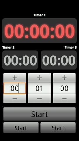 Xperia(エクスペリア)用キッチンタイマーアプリの設定時間が経過した画面