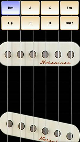 Xperia(エクスペリア)でギターが演奏できるSoloでエレクトリック・ギターを選択すると